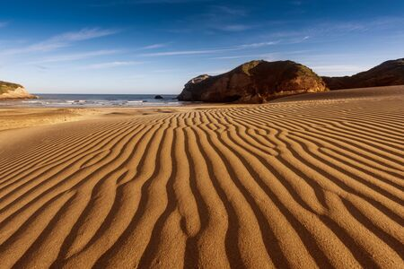 Sand dunes, Wharariki Beach, Golden Bay, Nelson District, South Island, New Zealand