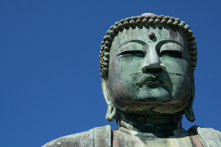 Daibutsu the Great Buddha of Kamakura, Japan. Stock Photo