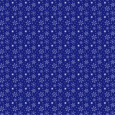Weiße Wiederholung Schneeflocken-Muster Muster Vektor Hintergrund Standard-Bild - 99963074