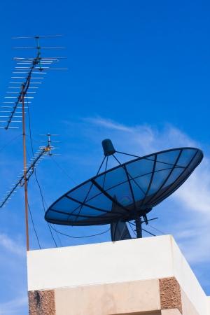 Satellite antenna Banco de Imagens