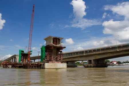 The rapid construction of the Chao Phraya River in Thailand