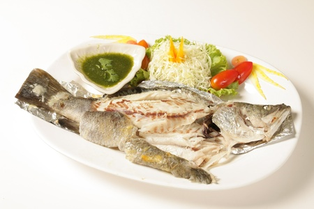 Fish with Spicy Thai on a white background