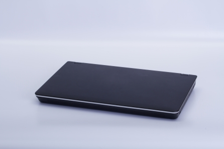 Notebook computer on a white background Stock Photo