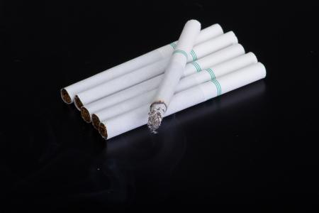 cigarette  on a black background Stock Photo