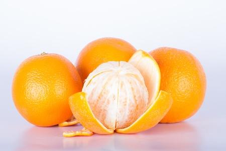 Orange peel on a white background
