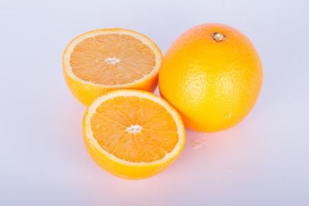 Orange paste on a white background