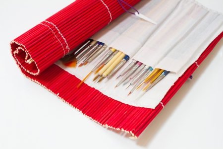 Brush drawing bamboo envelope