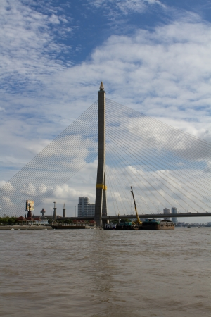 Water transport on the Chao Phraya River in Thailand photo