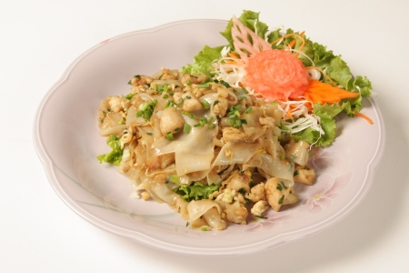 Roasted chicken noodle Thailand Food