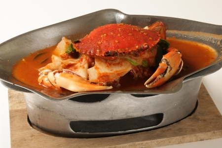 Crab sour soup made of tamarind paste Thailand food