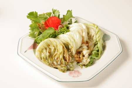 Cabbage fried oyster  Thailand food