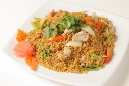 Pork fried rice is Thailand Stock Photo