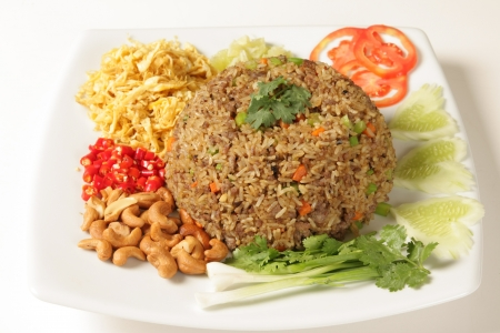 Rice with shrimp paste Food of Thailand Stock Photo