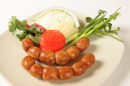 Thread sausage  Food of Thailand