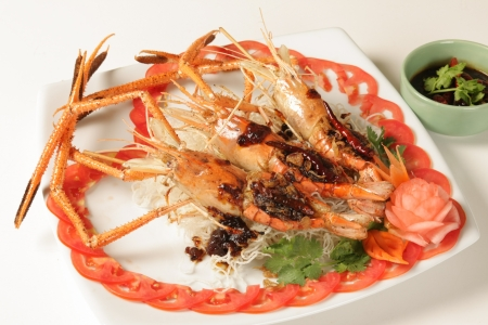 Kung Pao sauce sweet  Food of Thailand Stock Photo