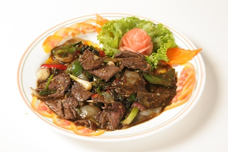 Beef with black pepper Food of Thailand