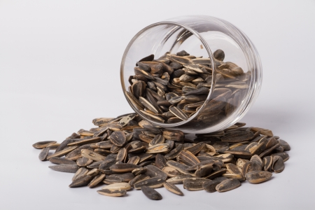 Sunflower seeds Taken on a white background