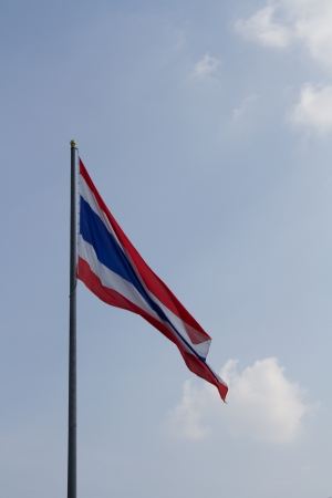 Thailand flag backdrop of the sky  Stock Photo