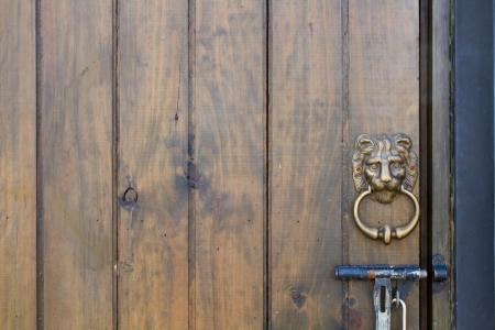 Wooden doors in the park