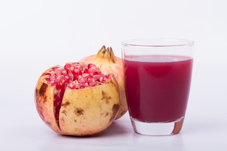 pomegranate juice and Effects of pomegranate Stock Photo