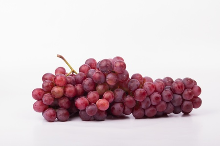 Red wine and grape juice Taken on a white background Stock Photo