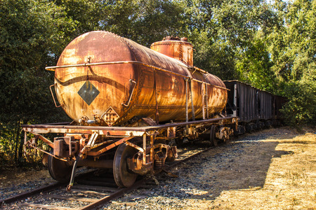 operative: Vintage Rusted Railroad Tanker Car