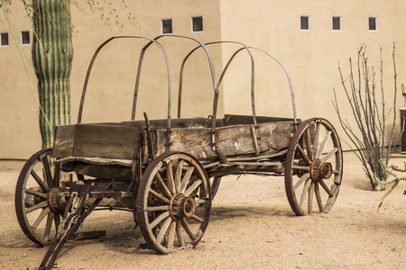 Vintage Wooden Covered Wagon