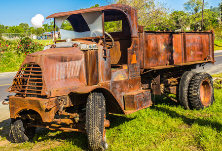 Vintage Rusted Dump Truck