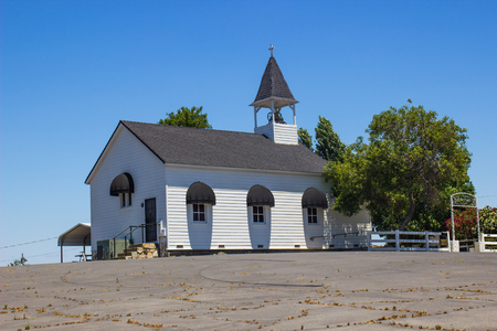Lone Small Church With Steeple & Bell