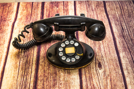 phone cord: Vintage Rotary Telephone Stock Photo