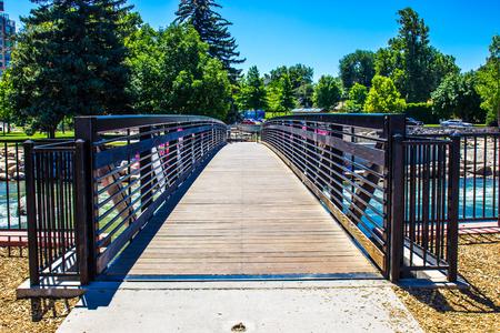reno: Walking Bridge Over Truckee River