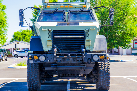 light duty: Police SWAT Vehicle Stock Photo