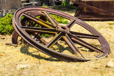Vintage Rusty Wheels Used In Mining Operations