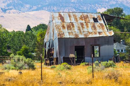 Old Tin Barn In Disrepair