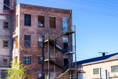 Multi Story Vintage Brick Building With Stairway