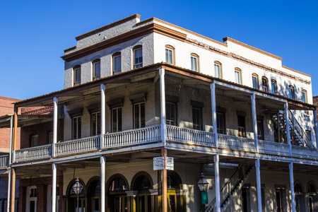 Multi Story Historic Building With Balcony