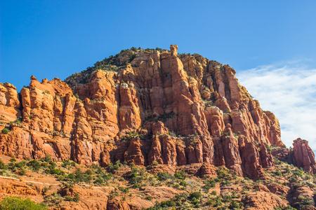 Red Rock Mountain Formation In Arizona High Desert
