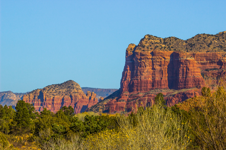 Colorful Red Rock Buttes In Northern Arizona Stock Photo
