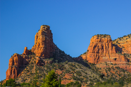 Red Rock Outcroppings In Mountains Of Northern Arizona Stock Photo