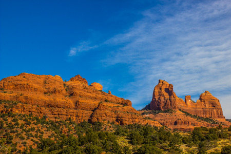 Colorful Red Rock Mountains In Arizona High Desert Stock Photo