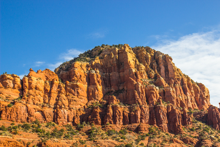 Red Rock Formations In Arizona Mountains