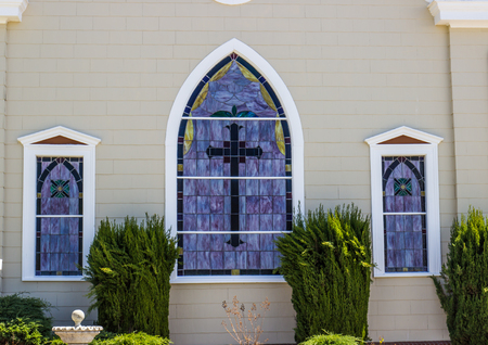 Stained Glass Windows On Church