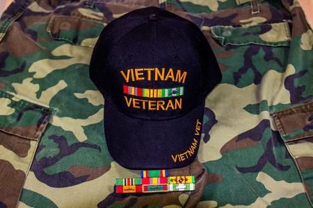 Vietnam Veterans Hat & Service Ribbons