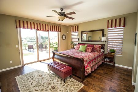 Modern Bedroom With Rich Hardwood Floors