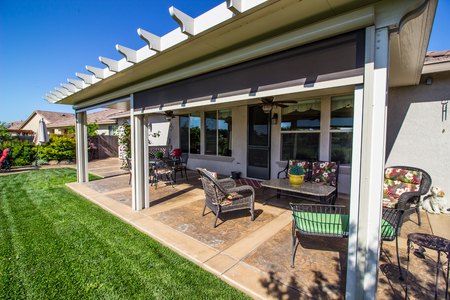 Rear Yard Patio At Modern Home