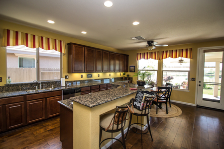 Granite Counter Kitchen With Island Bar