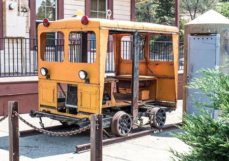Vintage Speeder Maintenance Motor Car On Display 写真素材