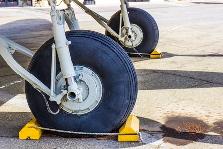 Old Rubber Tires On Obsolete Aircraft