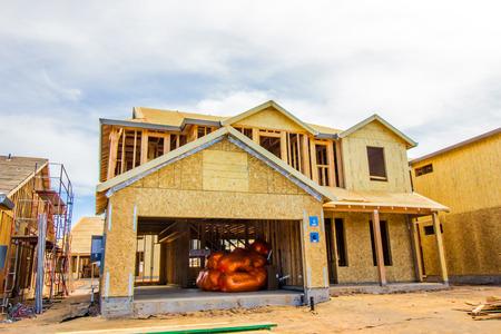Brand New Home Construction With Insulation Ready To Install Zdjęcie Seryjne