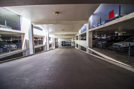 Access Ramp In Multi Story Parking Garage